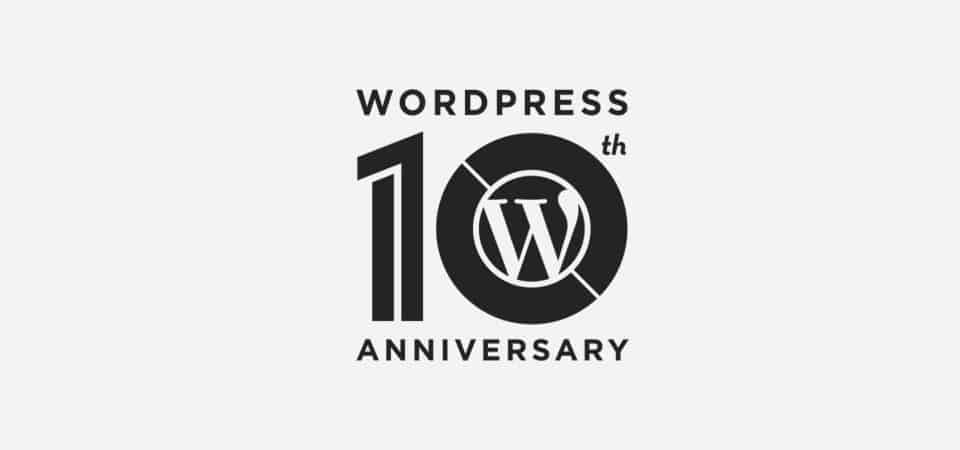 WordPress fylder 10 år