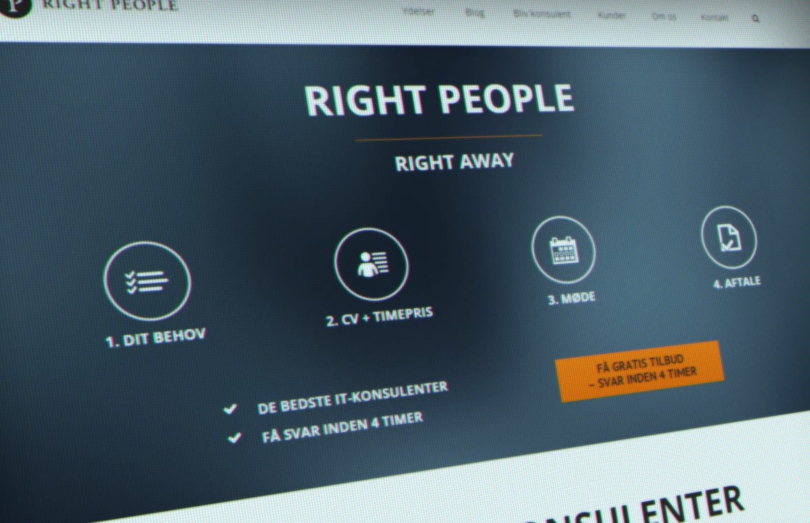 Nyt WordPress website til Right People Group