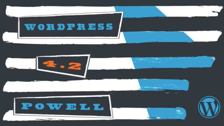 WordPress 4.2 Powell is available