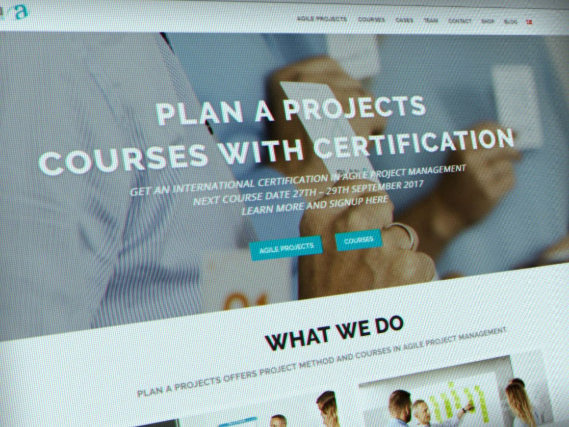 New WordPress website for Plan A Projects