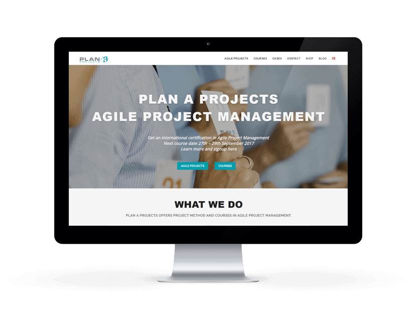 New WordPress website for Plan A Projects from 9bureau.dk
