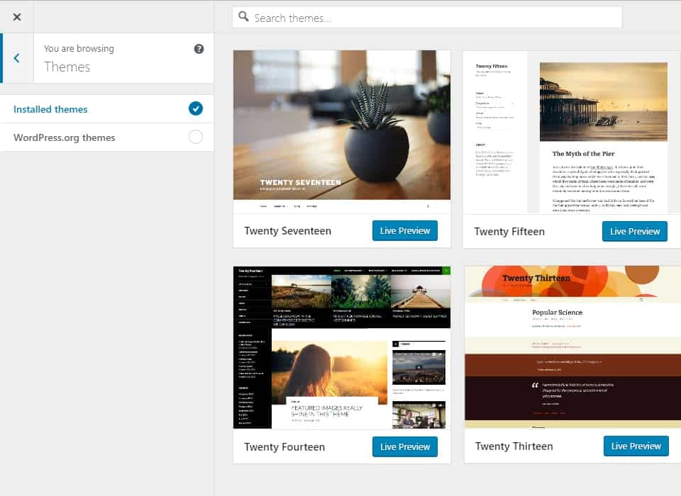 WordPress 4.9 Tipton theme browser - 9bureau