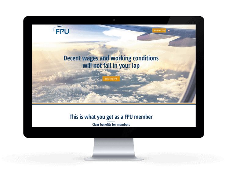 New WordPress website for Flight Personnel Union by 9bureau.dk