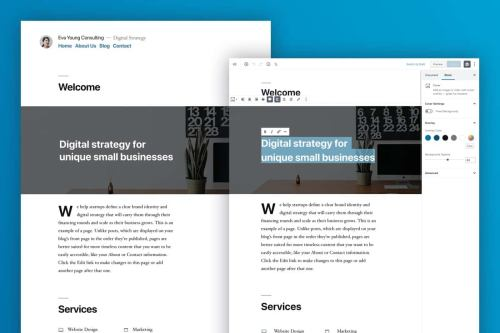 WordPress 5.0 - New Default Theme: Twenty Nineteen. 9bureau.dk