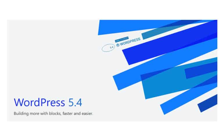 WordPress version 5.4
