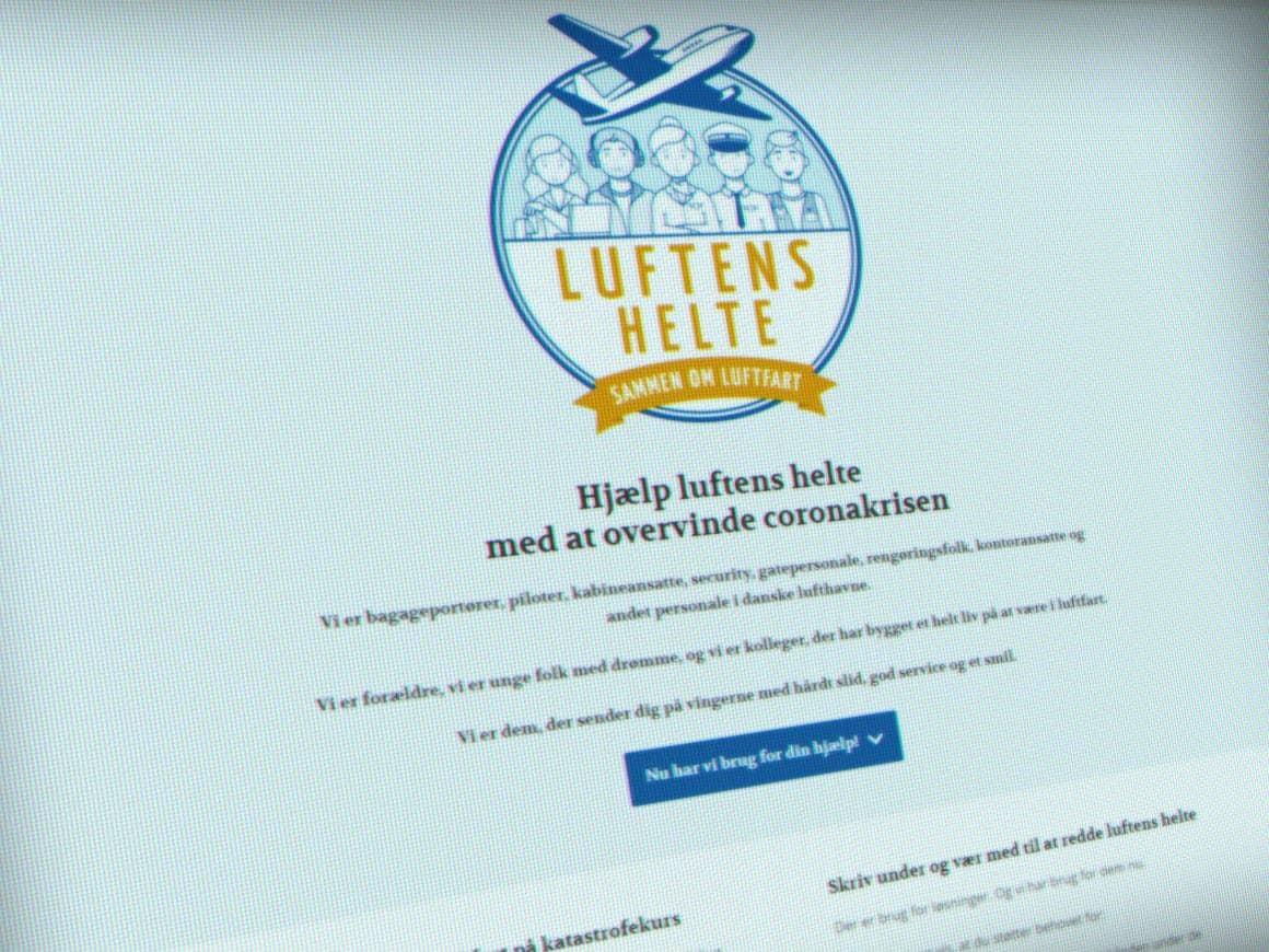 WordPress kampagnewebsite til Luftens Helte leveret af 9bureau.dk