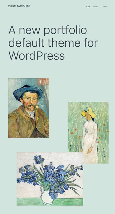 WordPress 5.6 Simone Twenty Twenty-One tema - 9bureau